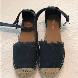 Nautical Espadrilles size 6